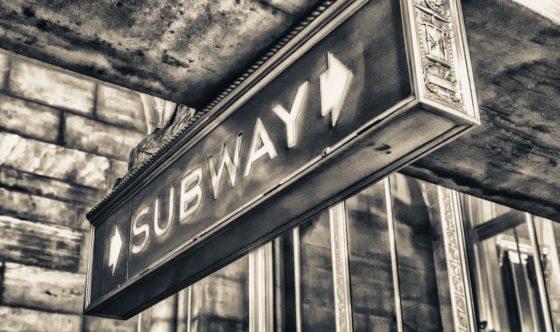 Old New York City subway sign