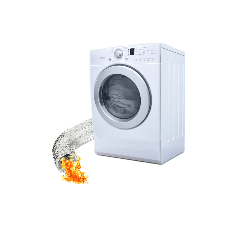 Dryer fire prevented by dryer vent cleaning in Moonachie, NJ